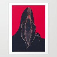 Lady Veils Art Print