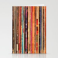 vinyl Stationery Cards featuring Vinyl by bomobob
