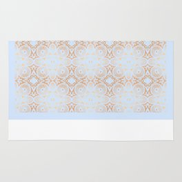 artisan: unbroken chain (in periwinkle & copper) Rug