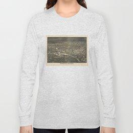 Aerial View of Minneapolis, Minnesota (1885) Long Sleeve T-shirt