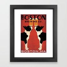 Boston Terrier Brewing Company Framed Art Print