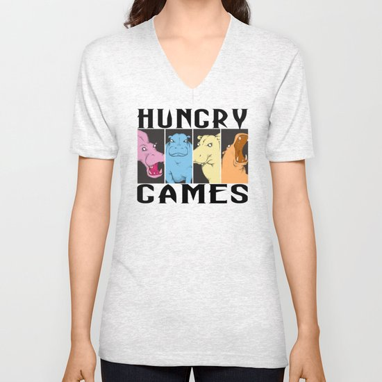 Hungry Hippo Games Unisex V-Neck