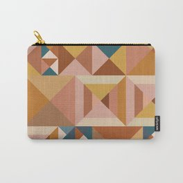 Modern Triangle Quilt Blocks Carry-All Pouch