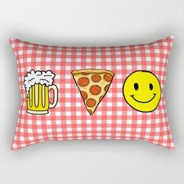 Beer Pizza Happiness Rectangular Pillow