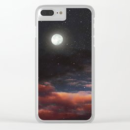 Dawn's moon Clear iPhone Case