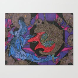 Burst of the Bubble Canvas Print