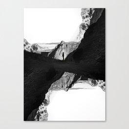 Man of isolation Canvas Print