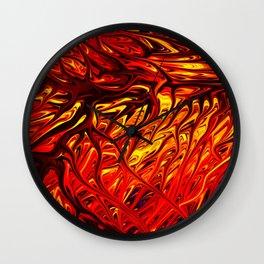 Molten Firegrass V by Chris Sparks Wall Clock