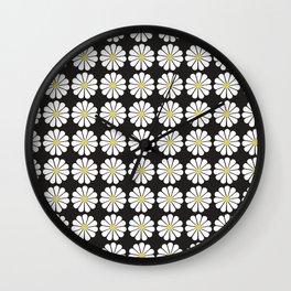 Daisy pattern Wall Clock