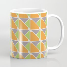 Retro Geometry surface pattern (Orange-green) Coffee Mug