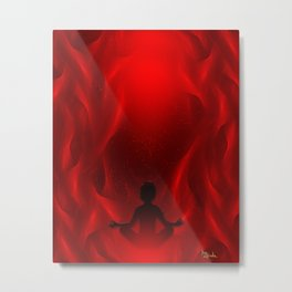 Color Meditation - Red Metal Print