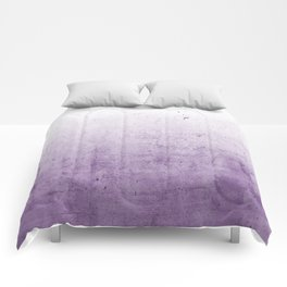 Radiant Orchid Purple Ombre  Comforters
