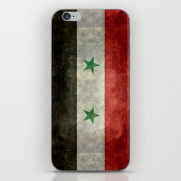 Syrian national flag, vintage iPhone Skin