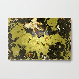 Abstract leaves mosaik Metal Print