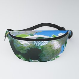 Blue Snowball Branch Fanny Pack