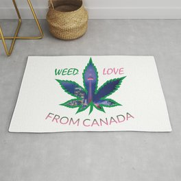 From Canada weed Love Rug