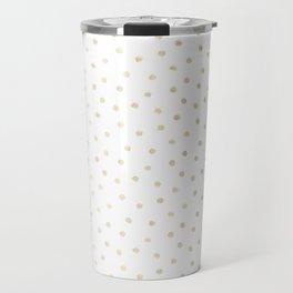 Delicate Gold Polka Dots Travel Mug