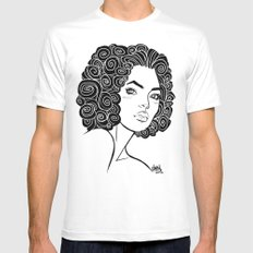 Curly Solonge MEDIUM White Mens Fitted Tee