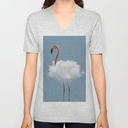 Flamingo in cloud Unisex V-Neck