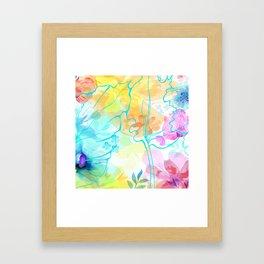 Posie Cluster Framed Art Print
