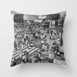 Shibuya Crossing Throw Pillow