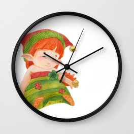 Elf's Factory Stories. Elf Girl Like a Little Princess Wall Clock