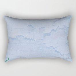 Rustic pale blue parchment paper Rectangular Pillow