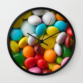 Multicolored round candies Wall Clock