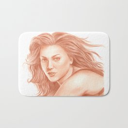 Woman Portrait 3 Bath Mat