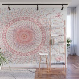 Red White & Blue Wall Mural