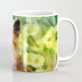 """Kitty in the sunlight field"" Coffee Mug"