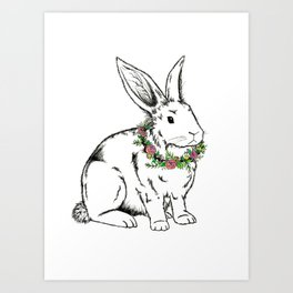 flower Bunny Art Print