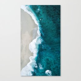 Seashore and rough water Canvas Print