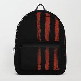 American flag Grunge Black Backpack