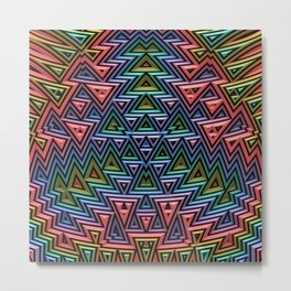 The Colorful Tribe Metal Print