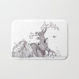 Tiny dragons tree nest Bath Mat