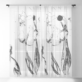 Faded Poppy Sheer Curtain