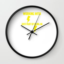 Funny Electrician Lineman Strippers Gift Idea Wall Clock