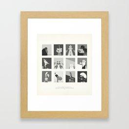 Super Mercredi Bros Heroes (7/8) Framed Art Print