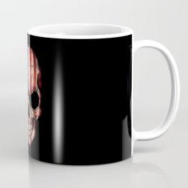 American Flag Skull on Black Coffee Mug
