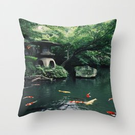 Happoen Garden Throw Pillow