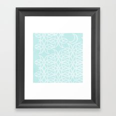 Blue Lunar Framed Art Print