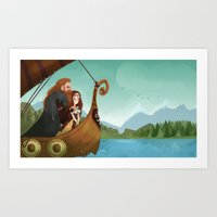 vikings Art Prints featuring Vikings by Supergna