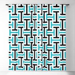 Geometric Pattern 212 (teal black) Blackout Curtain