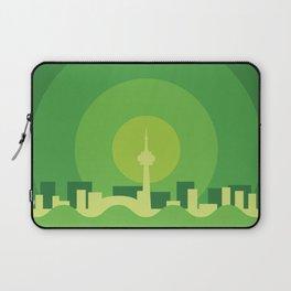 Toronto Minimalism Poster - Spring Green Laptop Sleeve