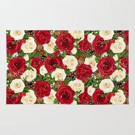 Christmas roses garden Rug