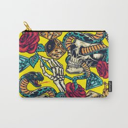 Yellow Snake  Carry-All Pouch