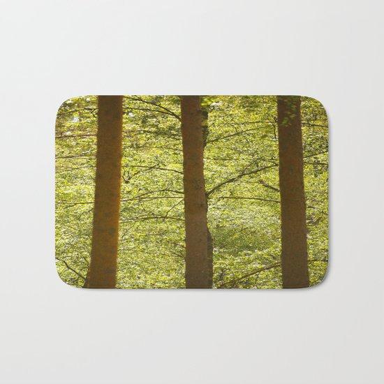 Three Tree Trunks  Bath Mat
