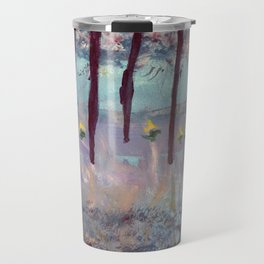 Beauty in the woods - Painting by young artist with Down syndrome Travel Mug