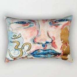 Buddah, lotus and OM Rectangular Pillow